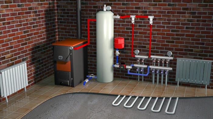 Твердотопливный котел и современные системы отопления